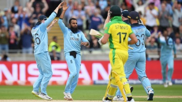 Adil Rashid took two wickets in one over to halt Australia's recovery
