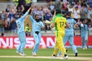Adil Rashid took two wickets in one over to halt Australia's recovery, England v Australia, World Cup 2019, Edgbaston, July 11, 2019