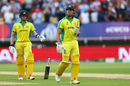 A dejected Marcus Stoinis walks off after his duck, England v Australia, World Cup 2019, Edgbaston, July 11, 2019