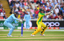 Steven Smith carried the Australia innings as wickets fell around him, England v Australia, World Cup 2019, Edgbaston, July 11, 2019
