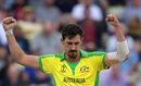 Mitchell Starc became the first player to take 27 wickets in a single World Cup after dismissing Jonny Bairstow, England v Australia, World Cup 2019, Edgbaston, July 11, 2019