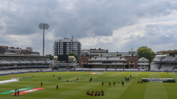 New Zealand gather for a team meeting at Lord's on the eve of the World Cup final