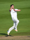 Will Rhodes runs in to bowl, Warwickshire v Durham, County Championship Division Two, Edgbaston, September 5, 2018