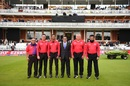 The match officials and referee pose for a picture before the match, England v New Zealand, World Cup 2019, final, Lord's, July 14, 2019