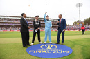 The two captains, Nasser Hussain and match referee Ranjan Madugalle at the toss, England v New Zealand, World Cup 2019, final, Lord's, July 14, 2019