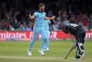 Liam Plunkett celebrates after dismissing Henry Nicholls, England v New Zealand, World Cup 2019, Lord's, July 14, 2019