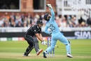 Ross Taylor survives a stumping scare as the ball bounces over Jos Buttler, England v New Zealand, World Cup 2019, Lord's, July 14, 2019