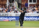 Tom Latham pulls a short ball to the boundary, England v New Zealand, World Cup 2019, Lord's, July 14, 2019