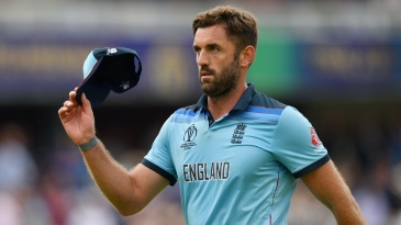 Liam Plunkett acknowledges the applause of the crowd after finishing with figures of 3 for 42
