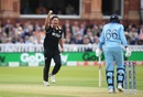Colin de Grandhomme celebrates dismissing Joe Root, England v New Zealand, World Cup 2019, Lord's, July 14, 2019