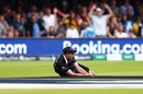 Substitute Tim Southee catches Jos Buttler's shot in the deep, England v New Zealand, World Cup 2019, Lord's, July 14, 2019
