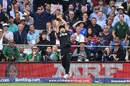 Trent Boult catches a Ben Stokes shot, but..., England v New Zealand, World Cup 2019, Lord's, July 14, 2019