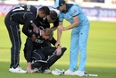 Martin Guptill is inconsolable after being run out going for the second run that would have won New Zealand the match, England v New Zealand, World Cup 2019 final, Lord's, July 14, 2019