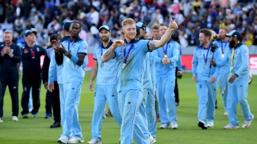 Ben Stokes leads England's victory lap