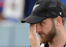 Kane Williamson reacts during the presentation ceremony, England v New Zealand, World Cup 2019 final, Lord's, July 14, 2019