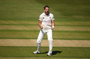 Chadd Sayers celebrates a wicket, Gloucestershire v Leicestershire, County Championship, Division Two, Cheltenham, July 15, 2019