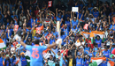 India fans applaud Rohit Sharma after he gets to his century, India v Sri Lanka, 2019 men's World Cup, Headingley, July 6, 2019