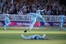Joe Root takes off on a celebratory run, England v New Zealand, World Cup 2019, final, Lord's, July 14, 2019