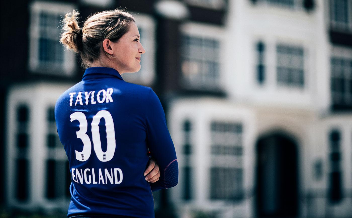 Sarah Taylor poses for photos