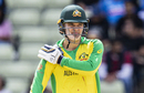 Alex Carey is ready to continue with some extra padding on the chin, England v Australia, World Cup 2019, Edgbaston, July 11, 2019