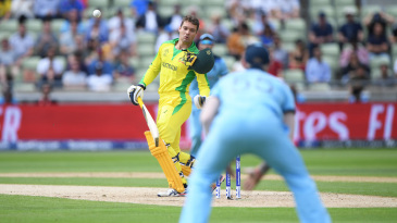 Even as Jofra Archer's bouncer slammed into his chin, Carey was already reaching for his helmet, to keep it from falling on the stumps