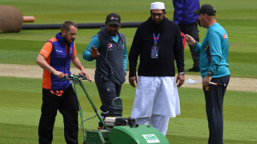 Inzamam-ul-Haq was seen in England and often with the players in the dressing room during the World Cup