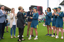 Sophie Molineux receives her cap from Belinda Clark, England v Australia, only women's Test, Taunton, 1st day, July 18, 2019
