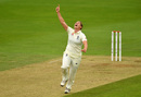 Katherine Brunt celebrates her breakthrough, England v Australia, only women's Test, Taunton, 1st day, July 18, 2019