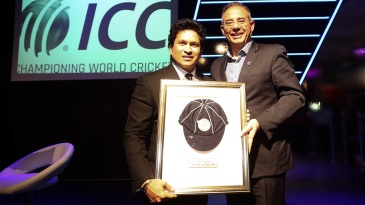 Sachin Tendulkar was inducted into the ICC Hall of Fame