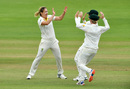 Ellyse Perry celebrates her opening strike, England v Australia, Women's Ashes, only Test, 3rd day, July 20, 2019