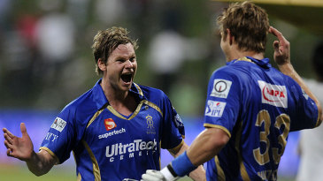 Steven Smith and Shane Watson took two runs off the final ball of the Super Over to tie the scores, knowing their side was ahead on boundaries, to beat Kolkata Knight Riders in 2014