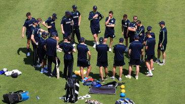 Ireland's players have a team-talk ahead of their maiden Lord's Test