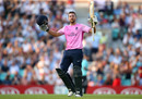 Dawid Malan celebrates his century, Surrey v Middlesex, Vitality Blast, The Kia Oval, July 23, 2019