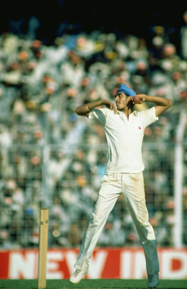 Maninder took ten wickets in the four Tests against West Indies, his third series, in late 1983