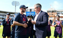 Ashley Giles presents Olly Stone with his Test cap, England v Ireland, Only Test, Day 1, July 24, 2019