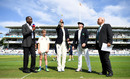 Joe Root and William Porterfield at the toss, England v Ireland, Only Test, Day 1, July 24, 2019