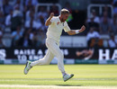 Olly Stone celebrates his maiden Test wicket, England v Ireland, Only Test, Day 1, July 24, 2019