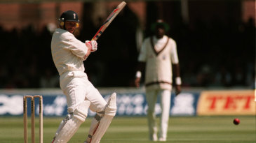 Robin Smith on his way to 90 against West Indies at Lord's, 1995