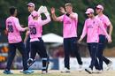 Tom Helm celebrates a wicket, Gloucestershire v Middlesex, Vitality Blast, July 25, 2019