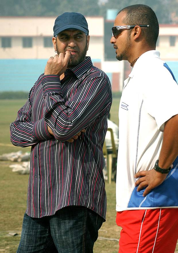 With fellow slow left-armer Murali Kartik during the India-England series in 2008