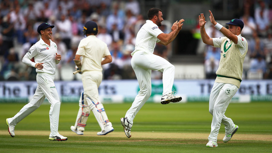 Stuart Thompson struck with his first ball of the third morning