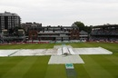 The Lord's pitch is under covers after rain halted play early on the third day, England v Ireland, only Test, Lord's, 3rd day, July 26, 2019