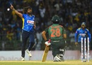 Lasith Malinga bowls Tamim Iqbal with an inswinging yorker, Sri Lanka v Bangladesh, 1st ODI, R Premadasa Stadium, July 26, 2019