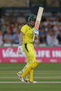 Beth Mooney acknowledges her half-century, England v Australia, 1st women's T20I, Chelmsford, July 26, 2019