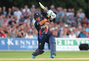 Heino Kuhn launches into a drive, Kent v Essex, Vitality Blast, South Group, Canterbury, July 26, 2019