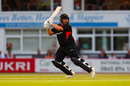 Mark Cosgrove watches a shot head towards the boundary, Leicestershire Foxes v Yorkshire Vikings, Vitality Blast, Leicester, July 23, 2019