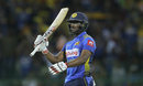 Avishka Fernando celebrates his fifty, Sri Lanka v Bangladesh, 2nd ODI, Colombo, July 28, 2019