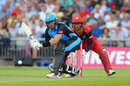 Martin Guptill plays a shot, Lancashire Lightning v Worcestershire Rapids, Vitality Blast, Emirates Old Trafford, July 26, 2019