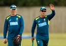 The presence of former players such as Steve Waugh has helped share the burden on Justin Langer, Southampton, July 21, 2019