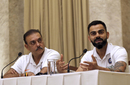 Ravi Shastri and Virat Kohli address a press conference ahead of India's departure to the West Indies,  Mumbai, July 29, 2019